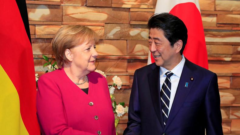 LIVE: Angela Merkel und Japans Premierminister geben Pressekonferenz