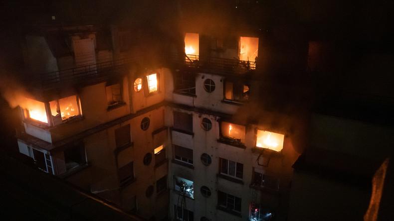 Hausbrand in Paris: Krimineller Hintergrund vermutet, eine Verdächtige festgenommen