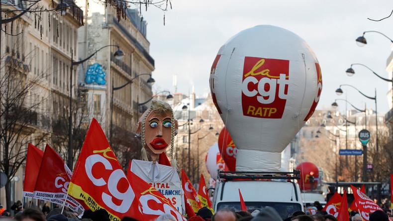 LIVE: Französische Gewerkschaften protestieren für höheren Mindestlohn in Paris