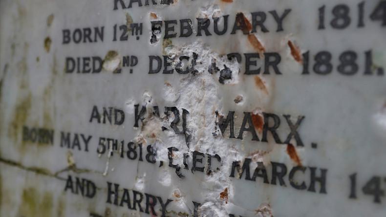 Grabstätte von Karl Marx in London beschädigt