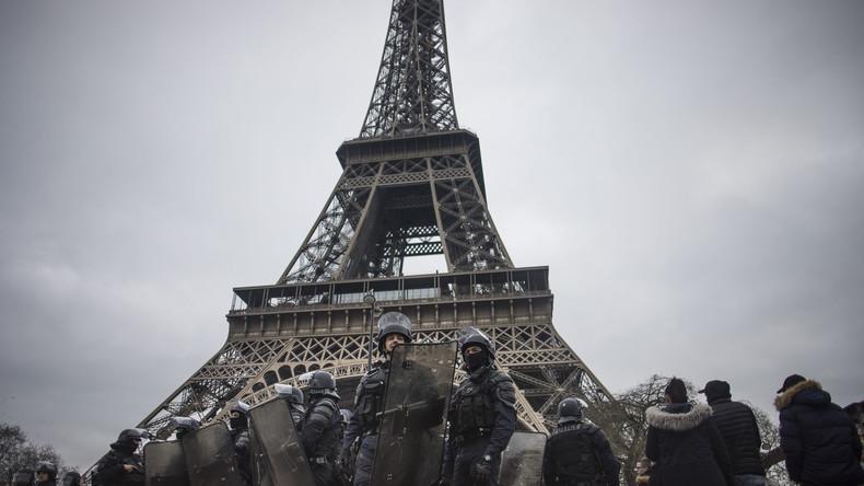 Zehntausende streiken in ganz Frankreich – Eiffelturm geschlossen