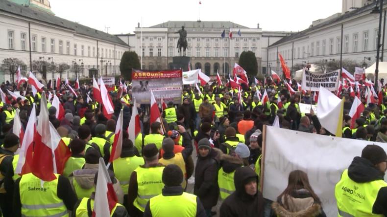 Polen: Tausende von Bauern protestieren gegen ukrainische Importe