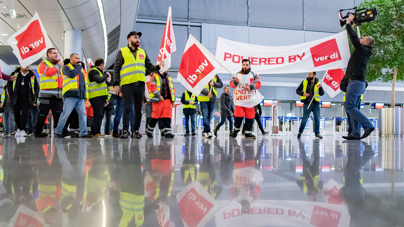 Warnstreik am Airport Düsseldorf - 56 Starts und Landungen annulliert