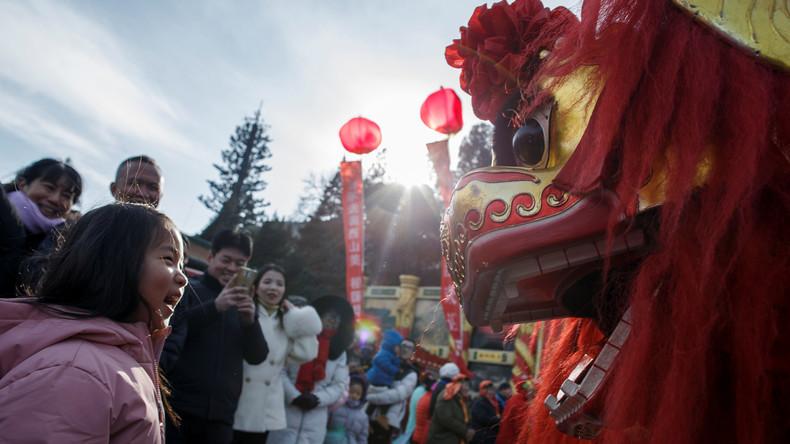 Im Zeichen des Schweins: China feiert chinesisches Neujahr