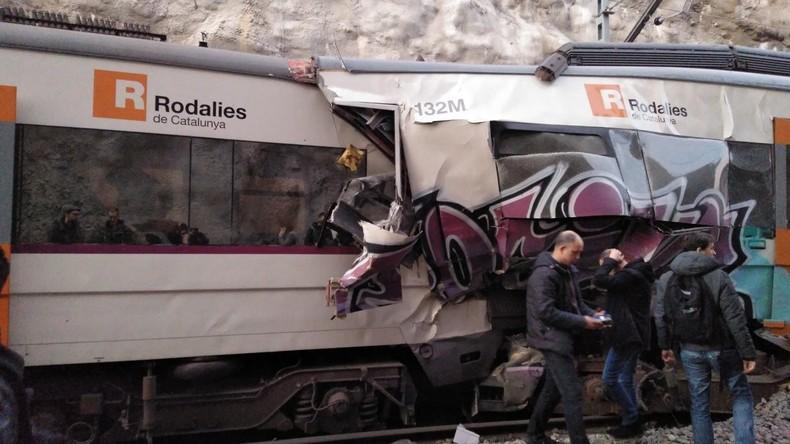 Ein Toter und 16 Verletzte bei Zugkollision nahe Barcelona