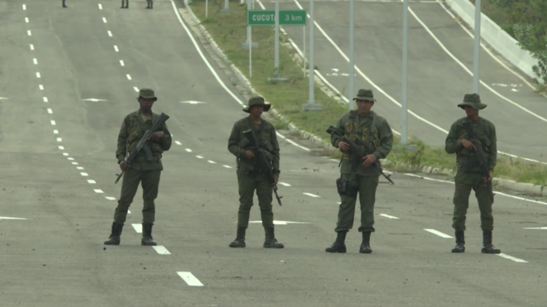 Venezuela: Streitkräfte bewachen Grenzübergang zu Kolumbien