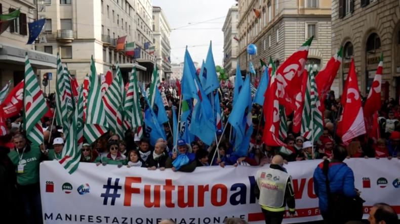 Italien: Gewerkschaften machen in Rom mobil gegen schwindende öffentliche Investitionen
