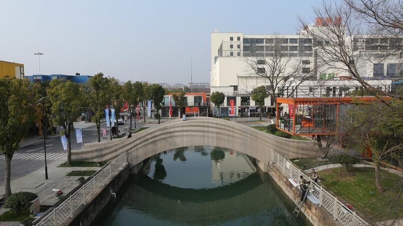 Weltlängste mit 3D-Drucker gebaute Brücke in China errichtet