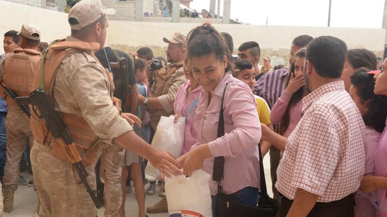 Gut sechs Tonnen humanitäre Hilfsgüter innerhalb von zwei Tagen in Syrien verteilt