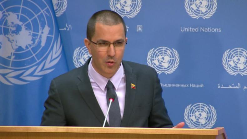 """Venezuelas Außenminister: """"Blockade durch die USA und deren Partner, keine humanitäre Krise"""""""