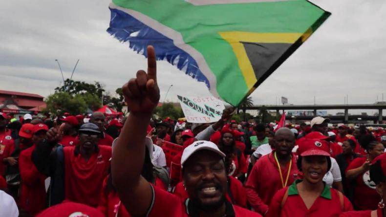 Südafrika: Tausende streiken in Johannesburg wegen Arbeitsplatzverlust