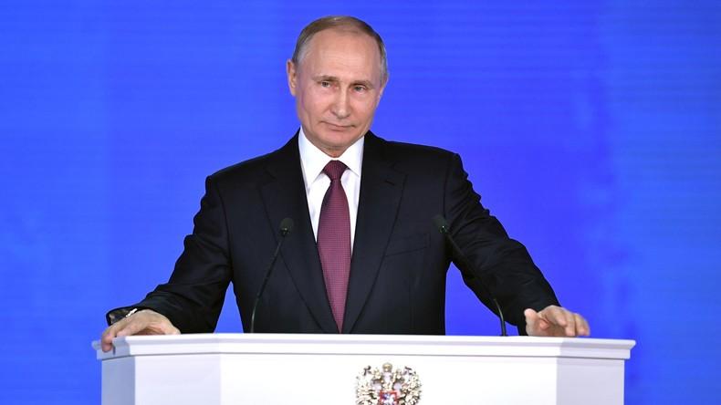 Vorankündigung: RT Deutsch sendet um 10 Uhr Putins Rede zur Lage der Nation mit deutscher Synchro