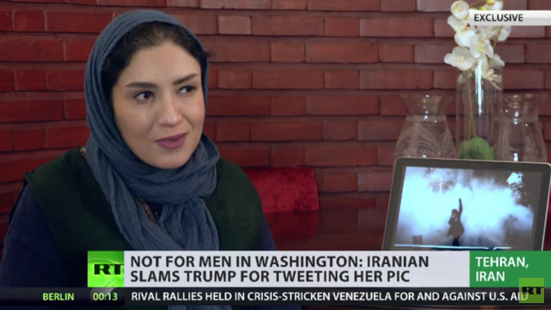 Iranische Fotografin schämt sich, nachdem Trump ihr Bild für seine Zwecke missbrauchte