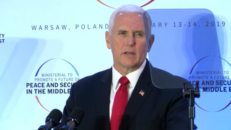 Nahostkonferenz in Polen: Pence recycelt Rede über den radikalen Islam von 2018