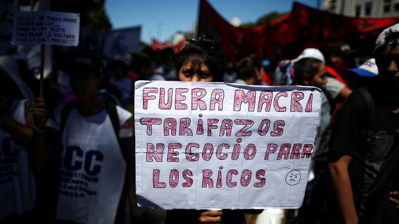 Argentinien: Proteste gegen Austeritätspolitik von Mauricio Macri