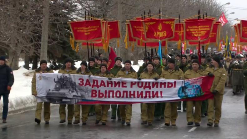 Russland: Veteranen begehen 30. Jahrestag des sowjetischen Abzugs aus Afghanistan