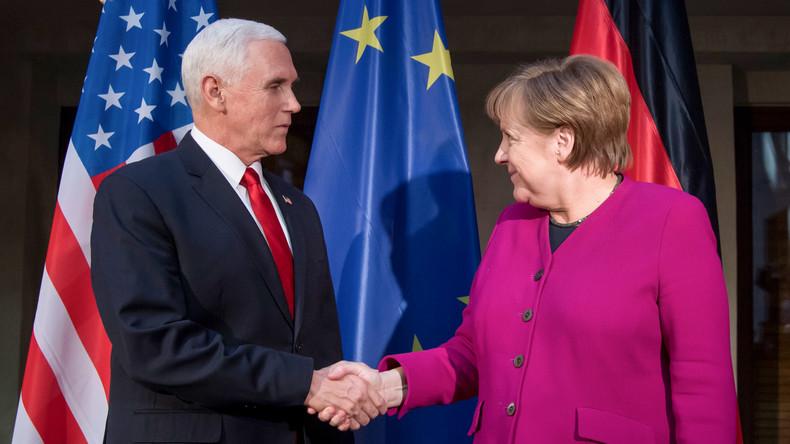Münchner Sicherheitskonferenz: Schlagabtausch zwischen US-Vize Pence und Kanzlerin Merkel