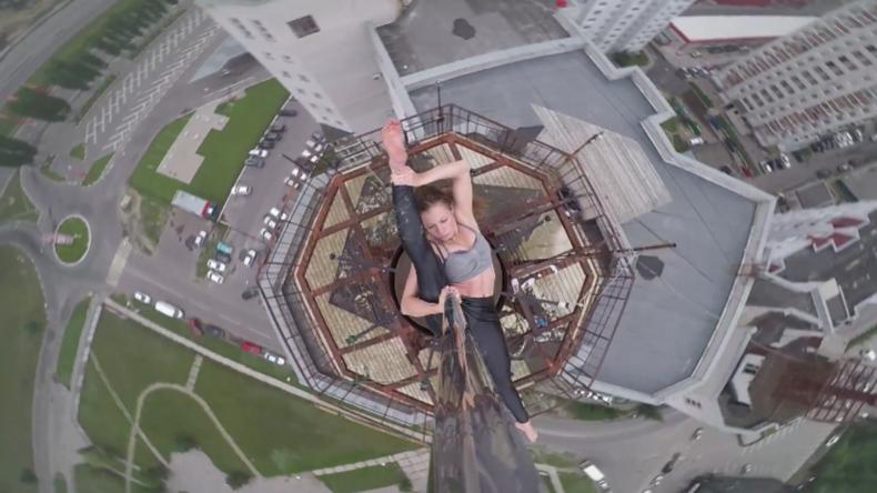 Russland: Stangentänzerin begeistert mit Wagemut und ihren Fähigkeiten