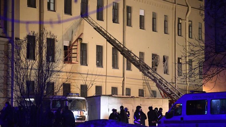 Katastrophenschutz: Keine Todesopfer beim Dacheinsturz im Uni-Gebäude in Sankt Petersburg