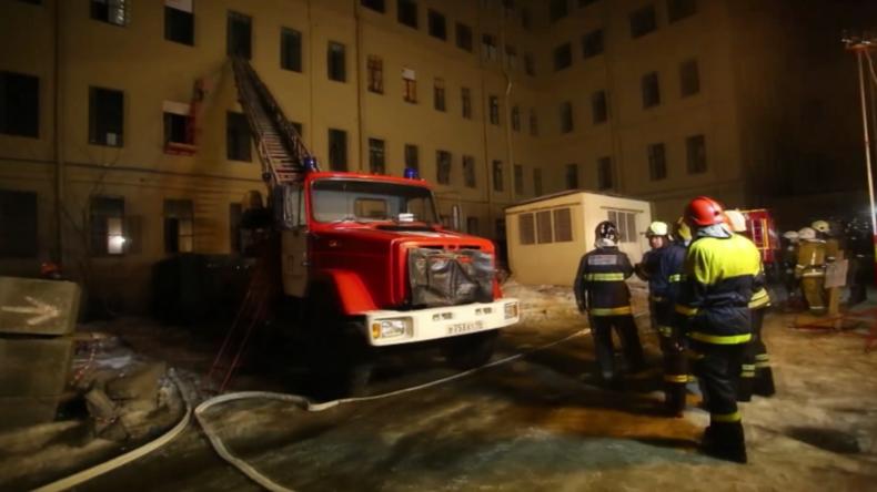 Russland: Rettungskräfte räumen eingestürztes St. Petersburger Universitäts-Gebäude