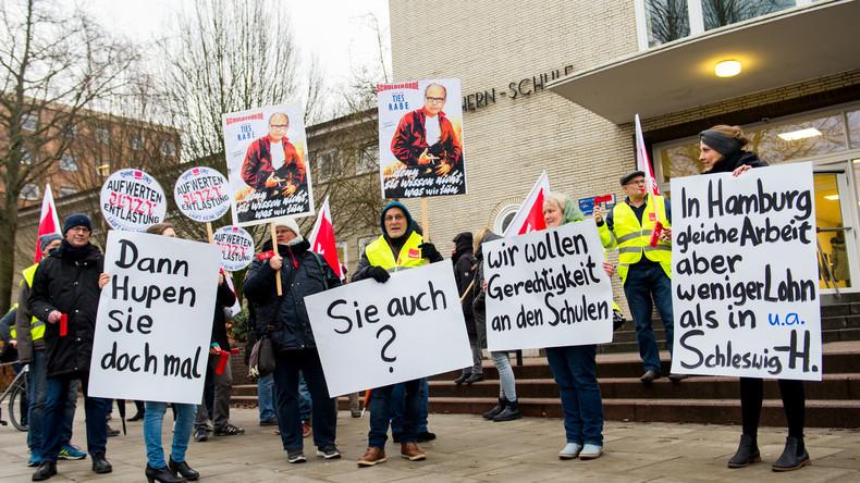 Warnstreiks an Hamburger Schulen und Hochschulen