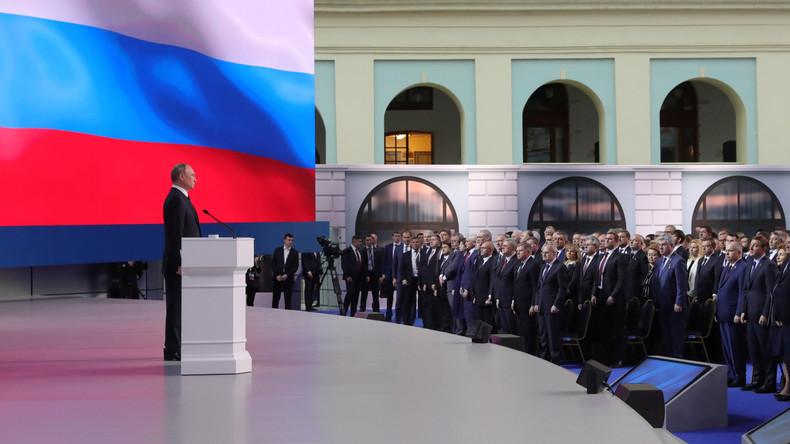 """""""Russland droht niemanden"""": Außenpolitische Kernaussagen der Rede Putins zur Lage der Nation (Video)"""
