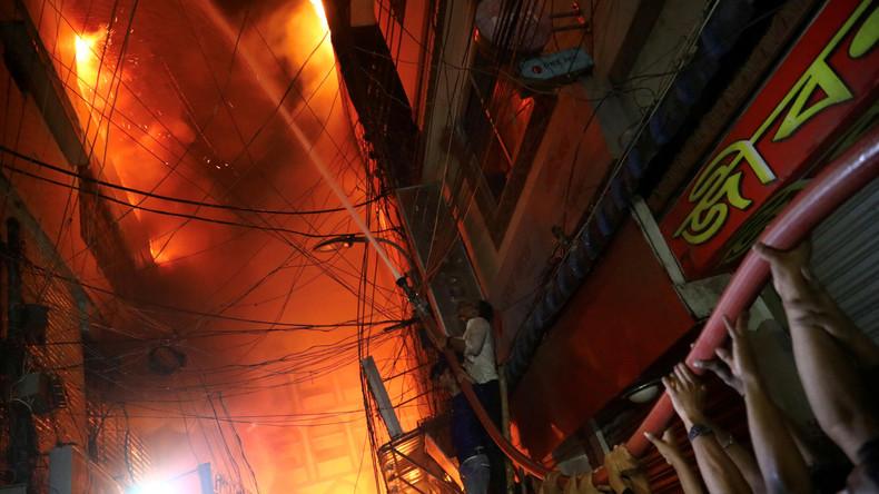 Mindestens 69 Tote bei Großbrand in Bangladesch