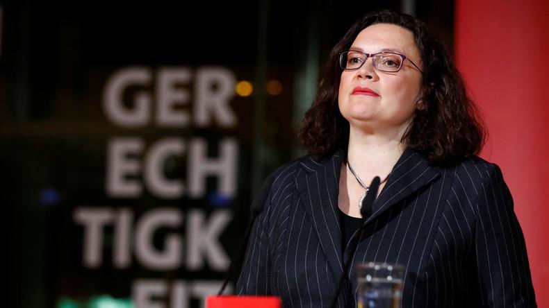 """SPD-Chefin Nahles möchte """"neuen Sozialstaat als Partner der Menschen"""""""