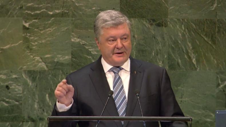 """""""Auf seinen Platz verweisen"""" – Poroschenko fordert vor UN, Russlands Vetorecht zu entziehen"""