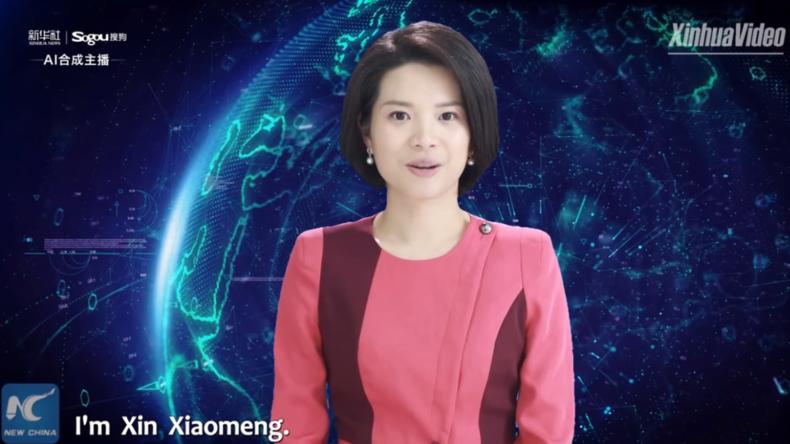 Blick in die Zukunft: Chinesischer Sender präsentiert weltweit erste virtuelle Moderatorin