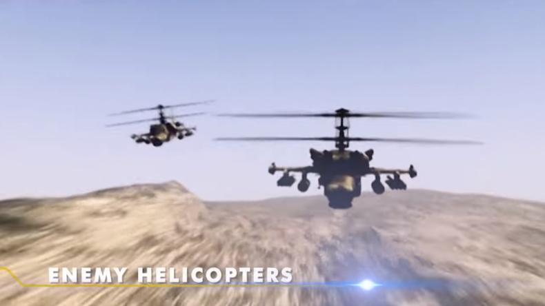 """Israel zerstört russische """"Feind-Hubschrauber"""" bei Videopräsentation von Flugabwehrsystem"""