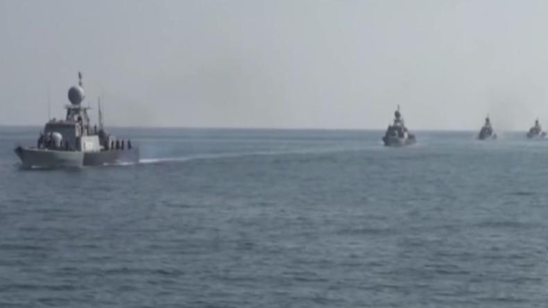 Iran: Die neuesten Kriegsschiffe der Marine nehmen an groß angelegten Übungen im Golf von Oman teil
