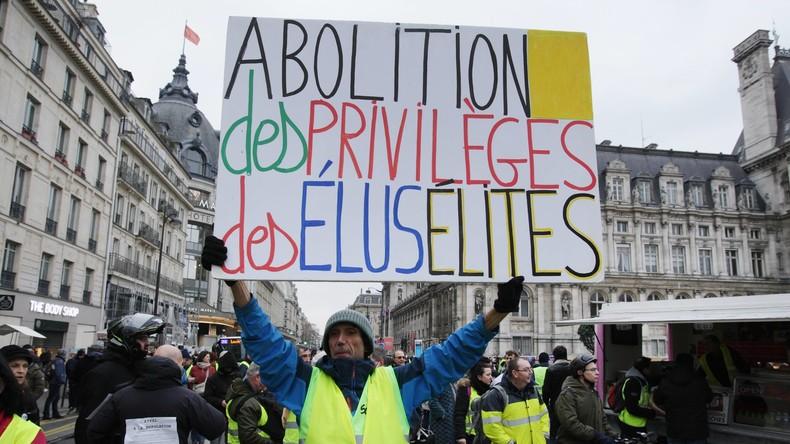 LIVE aus Paris: Gelbwesten protestieren zum 15. Mal in Folge