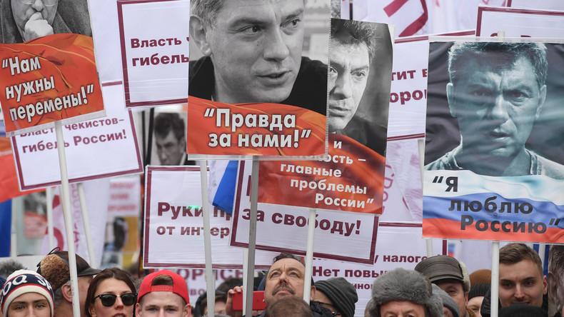 LIVE: Gedenkmarsch in Moskau in Erinnerung an den Mord an Oppositionspolitiker Boris Nemzow
