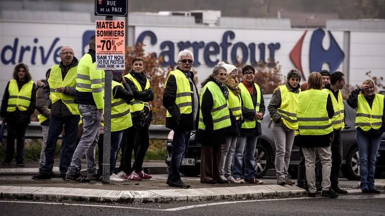 Frankreich: Einzelhandelsriese Carrefour droht Gelbwesten-Demonstrant mit Klage wegen Umsatzeinbußen