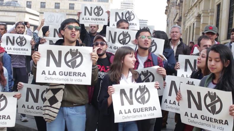 Kolumbien: Protest gegen Krieg und Einmischung in Venezuela für US-Interessen