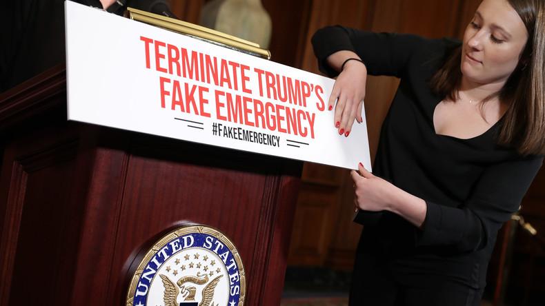 US-Abgeordnetenhaus stellt sich mit Votum gegen Notstandserklärung