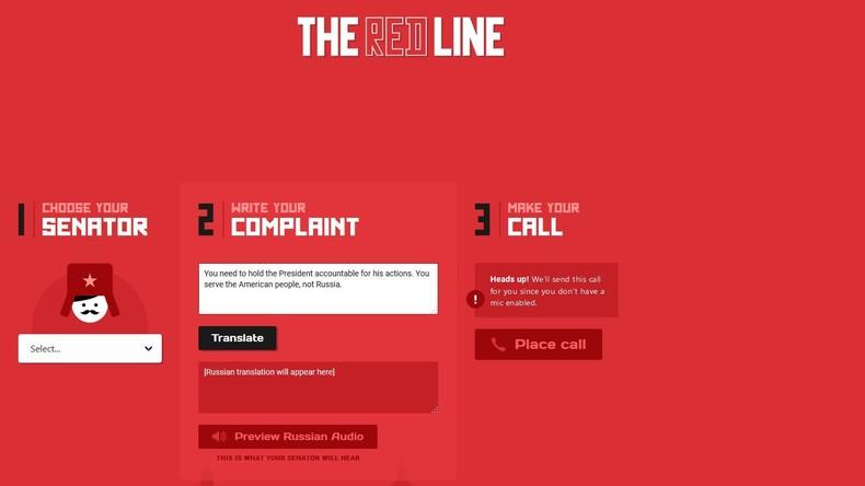 Prankster-Internetseite zum Anrufen republikanischer US-Senatoren auf Russisch nimmt Betrieb auf