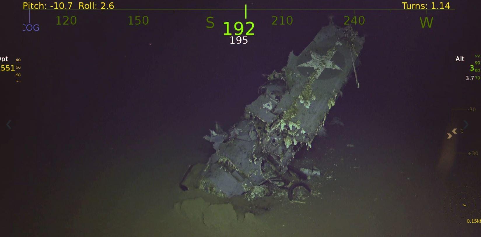 Wrack des 'Doolittle Raid'-Flugzeugträgers USS Hornet aus 2. Weltkrieg  im Südpazifik gefunden