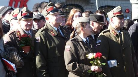 In Litauens Hauptstadt versammeln sich Anhänger der Waffen-SS zum gemeinsamen Gedenken. (16. März 2017)