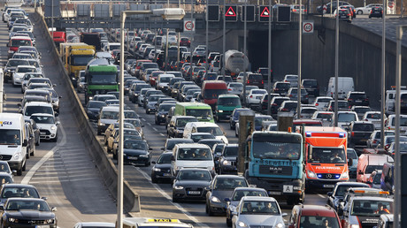 Alltag auf deutschen Straßen: Stau, hier auf der A100 in Berlin.