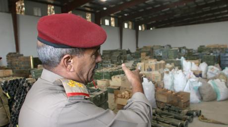 Symbolbild: Gesammelte Waffen von jementischen Stämmen, Sanaa, Jemen, 26. Mai 2007.