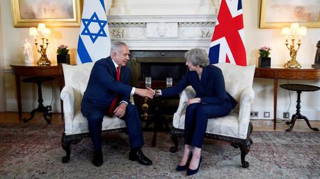 Der israelische Ministerpräsident Benjamin Netanjahu und die britische Premierministerin Theresa May in London, Großbritannien, 6. Juni 2018.