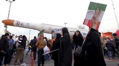 Simorgh Träger-Rakete, Teheran, Iran, 11. Februar 2016.