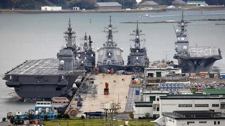 US-Kriegsschiffe im japanischen Sasebo.