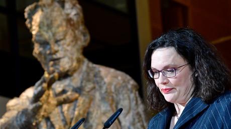 Wenn Willy das wüsste ... SPD-Chefin Andrea Nahles im Oktober 2018