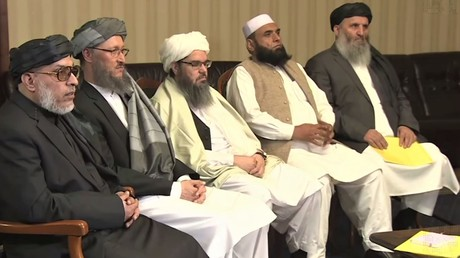 Delegation der Taliban-Vertreter in Moskau im November 2018.