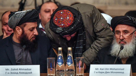 Vertreter der Taliban während der Gespräche in Moskau am 5. Februar 2019.