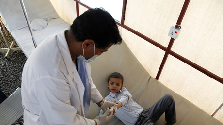 Die Cholera-Krise im Jemen wird durch weitere Luftangriffe noch weiter verschlimmert.