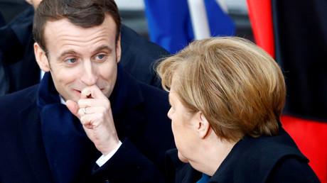 Da herrschte noch Harmonie: Merkel und Macron am 22. Januar in Aachen.